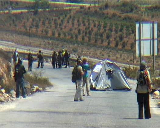 Tent Protest, Nabi Saleh, West Bank, August 2011 (videostill from David Reeb)