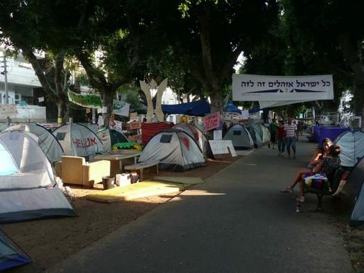 Tent Protest, Rothchild Boulevard, Tel Aviv, August, 2011