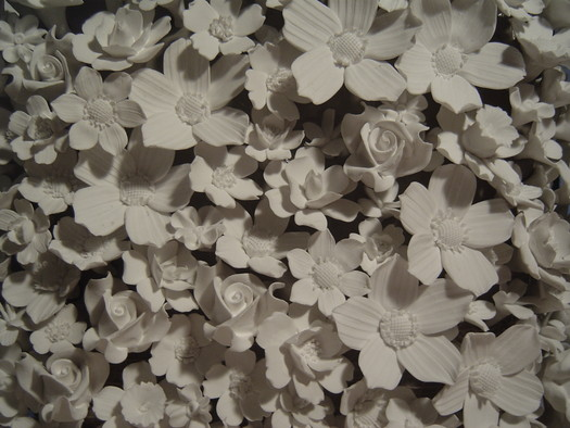 Battleship (detail of bone china flowers)