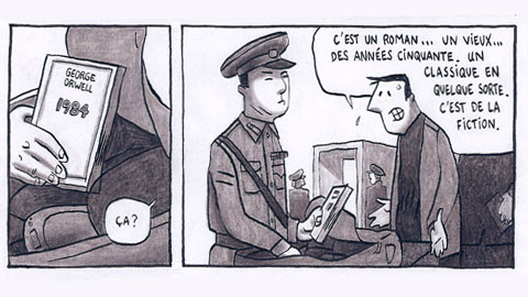 Guy Delisle: storyboard from 'Pyongyang'