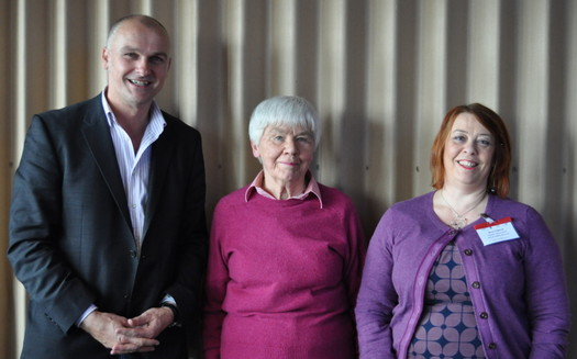Dorothy Rowe and Anne Crabtree with Clive at the Un-Conference