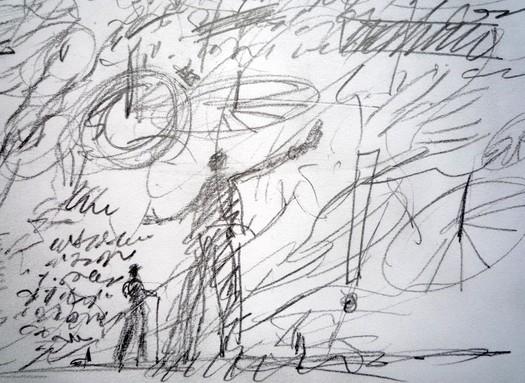 sketchbook notes for Finnegans Wake p. 36 detail