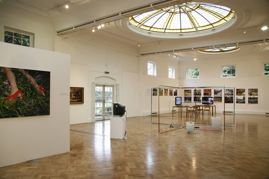 Installation view of Always Greener Exhibition at PM Gallery