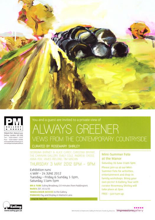 Always Greener Exhibition Invite