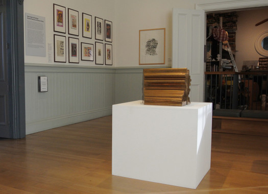 View of the installation showing the Paolozzi Studio (right)