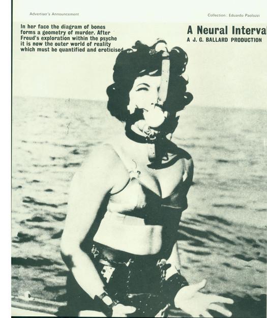 JG Ballard's spoof adverts were part of the visual literature of New Worlds