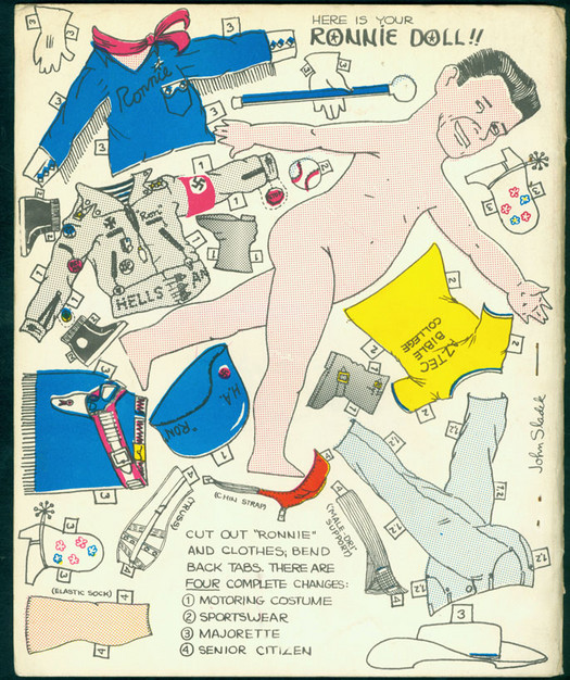 Back cover of Reagan magazine, a project by New Worlds writers including Zoline and Ballard