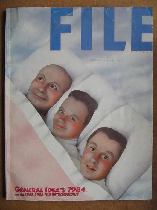 FILE cover featuring its three founding editors