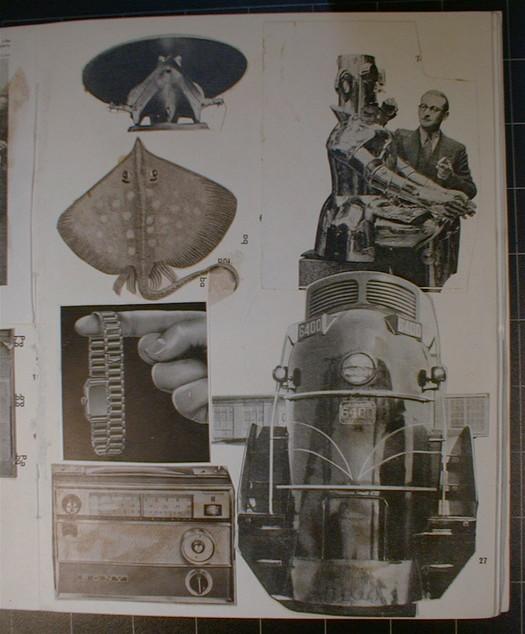 Eduardo Paolozzi, scrapbook collage