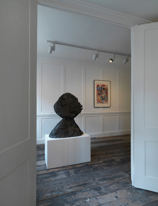 Eduardo Paolozzi sculpture in situ at Raven Row gallery