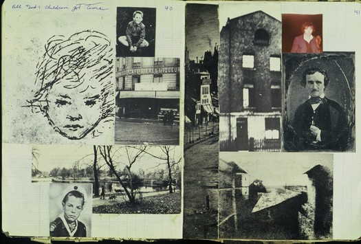 William S. Burroughs scrapbook in the collection at Los Angeles County Museum of Art