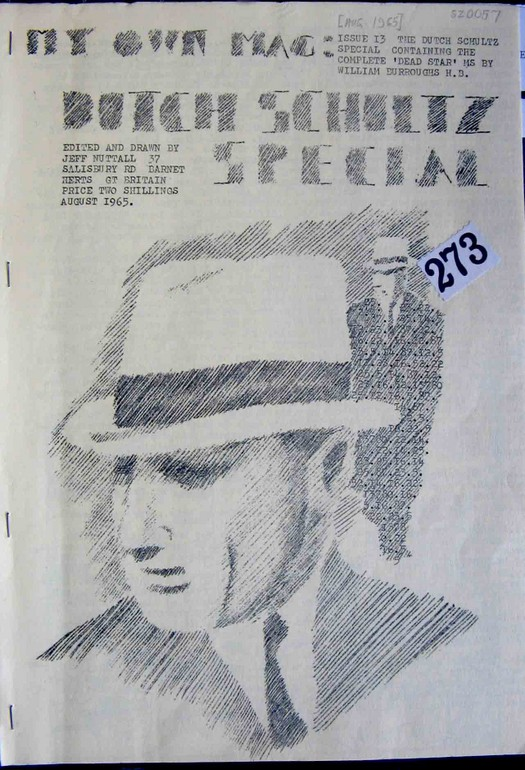 Cover of My Own Mag, Issue 13, August 1965 containing the 'Dead Star' manuscript by William S. Burroughs