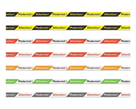 Attention Modernist Tape: Design Jonathan Hitchen
