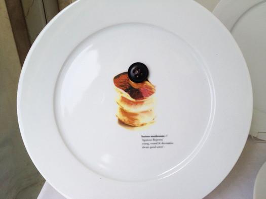 Button Mushroom Plate