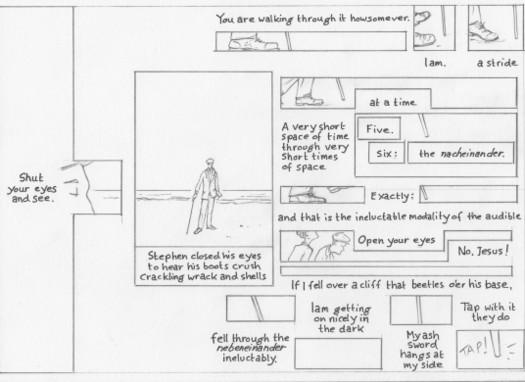 Proteus p. 6 pencil layout