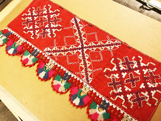 Textile sample of traditional Estonian patterns
