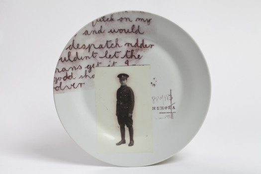 At Heart a Man (detail of individual plate)