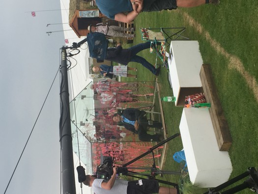 BBC filming at our Greenhouse 2017