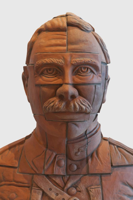 Terracotta portrait bust, Zonnebeke clay.