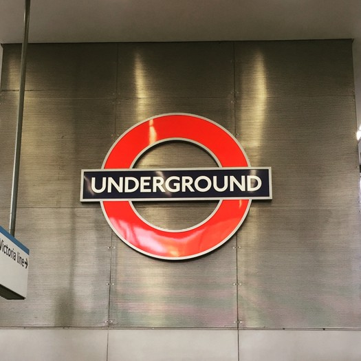 London Underground Roundel at King's Cross St Pancras Station