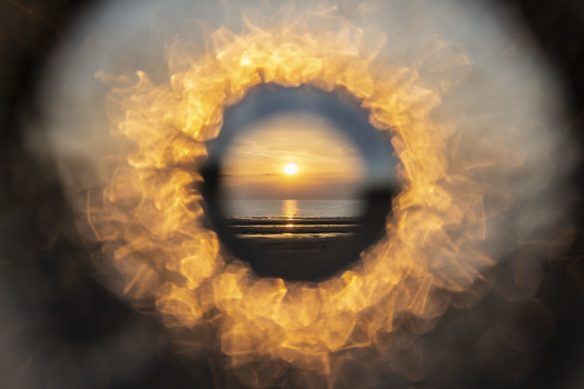 New Perspectives: Sunset: Optic Glass Lens, Photography