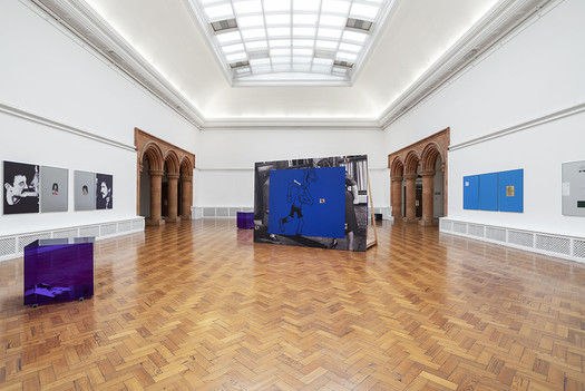 Installation view of Simeon Barclay, Life Room at the Holden Gallery. 08.02.19 - 29.03.19