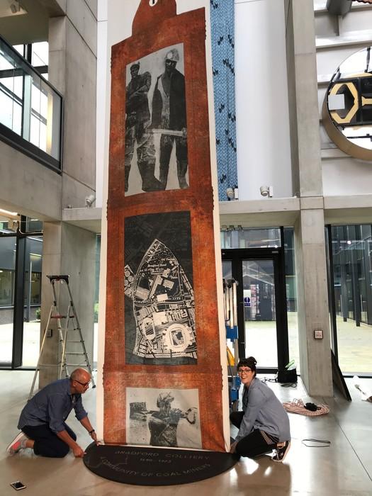 Bradford Pit Memorial Exhibition installation