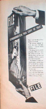 Promotional advert in FILE, the Canadian artists' magazine