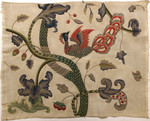 Crewel embroidery on cotton canvas, late 1940s