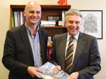 The Minister receives the Prospectus for Arts and Health