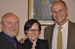 Brian Chapman,Roma Surviliene; and Clive Parkinson at the British Embassy in Vilnius