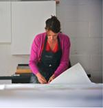 Rachel in Print Studio.