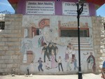 Settler's mural, Hebron, West Bank, 2010