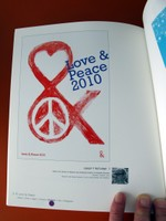 Love and peace poster design