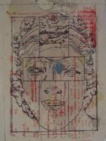 Frankenstein printed tile (detail)