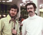 Charles Platt (left) designed and edited New Worlds (1967-70)