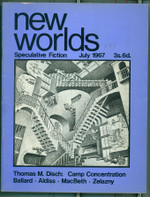 From issue 173 New Worlds announced its identity using visual images
