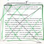Hand altered transcript considered for artwork