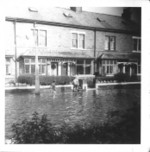 A young Parkinson exploring his flooded environs 1968