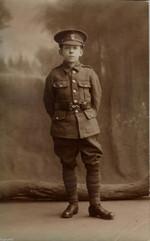 Postcard portrait of a boy soldier
