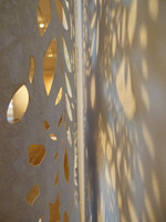 In situ wallpaper shadow detail
