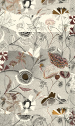 Detail fo Gawthorpe Wallpaper by Rachel Kelly