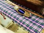 Checked woven cloth