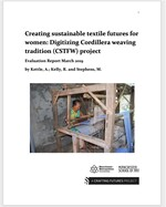 Creating a Sustainable Textile Future for Women: Digitising Cordillera weaving Tradition (CSTFW) Project